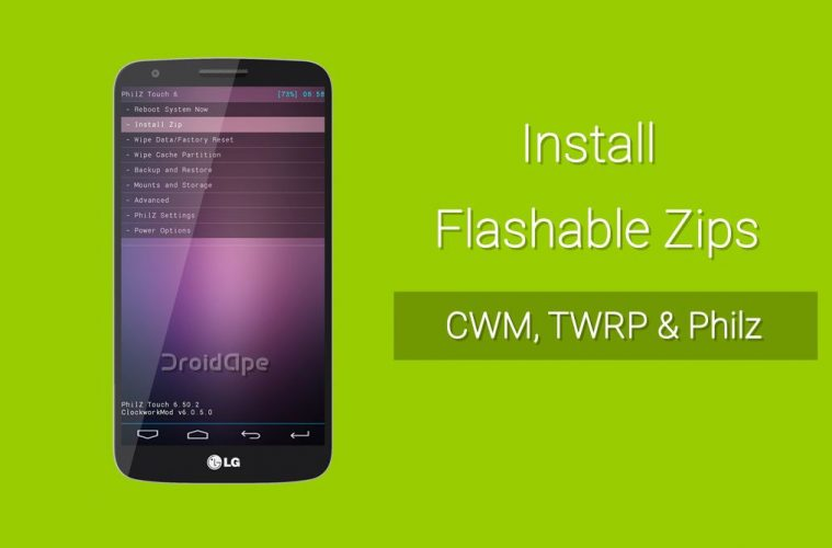 How to Install Flashable Zips on Android Using Custom